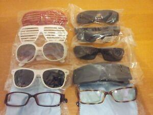 Lot Of 10 Assorted New/Used Glasses Sunglasses/Eyeglasses Frames LOCS Unbranded