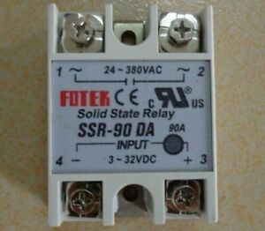 1PC Fotek SSR-90DA SSR90DA Solid State Relay 90A -New Free Shipping