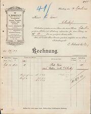 NÜRNBERG, Rechnung 1900, Steinkohlen Braunkohlen Koks Briketts C. Schmid & Co.