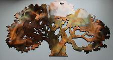 "The Oak Tree Metal Wall Art Accent Decor 30"" wide"