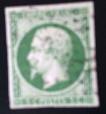 France N° 12 5 c Vert Fonce Sur Vert Obli Tb Côté 325€