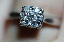 Half Carat 1/2 Diamond Engagement Anniversary Ring Floral Flower 14K White Gold