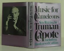 TRUMAN CAPOTE Music for Chameleons INSCRIBED FIRST EDITION