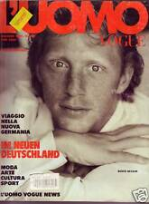 UOMO VOGUE DEUTSCHER TEXT JUNE 1990 BORIS BECKER No.208