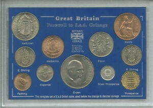 Farewell to the £sd System Pre-Decimal Old Money 11 Coin (BU UNC) Cased Gift Set