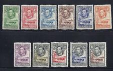 BECHUANALAND 1938-52 KGVI definitives (SG 118-128) F/VF MH *read desc*