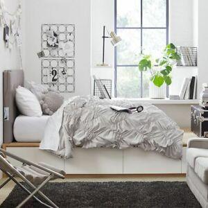 NIP New Pottery Barn Teen Whimsical Waves Comforter & Sham Twin XL Dorm Gray