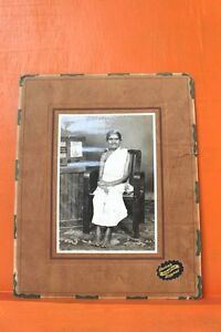 Old Lady Chattier Family Black &White Camera Photo & Wood frame Collectible C-1