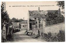 CPA 60 - CHEVINCOURT (Oise) - 233. Rue d'Enfer après les bombardements en 1918