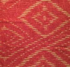 ANDREW MARTIN Koh Red Beige Ikat Thailand Ramie Rayon Remnant New