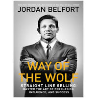 Way of the Wolf by Jordan Belfort Straight line selling,Master of the art PB NEW