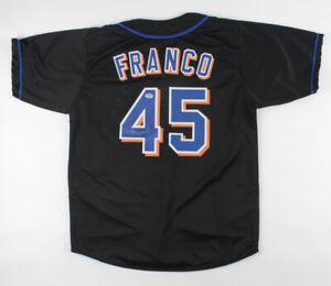 John Franco Signed New York Mets Jersey (PSA COA) 3xNL Saves Leader / 4xAll Star