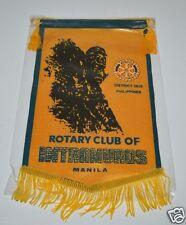 WOW Vintage Intramuros Manila Philippines Rotary International Club Banner Flag