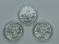 More details for 3 x 2020 royal arms 1oz silver bullion coin, royal mint