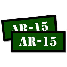 AR-15 Ammo Can GREEN Stickers 2x Ammunition Gun Case Labels  Decals 2 pack