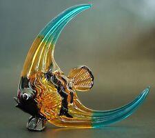 Tropical Glass FISH Painted Glass Animal Curio Display Aquarium Glass Ornament