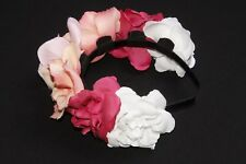 Pretty Pink Coral & White Large Floral Flower Crown Headdress Hair Garland s191