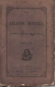 1859 Atlantic Monthly June - Harriet Beecher Stowe; a trip to Cuba; Stereoscope