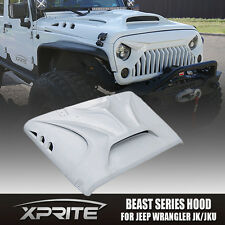 Xprite Angry Beast Monster Fiberglass Dome Style Hood for Jeep Wrangler 07-17