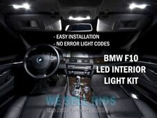 18pc BMW serie F10 5 LED Smd Completo Interno Kit luce bianco M5 Tetto Porta Mappa