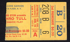 1973 Jethro Tull concert ticket stub Madison Square Garden A Passion Play 8/28