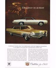 1967 Cadillac Fleetwood Brougham and Eldorado automobile Car Vtg Print Ad