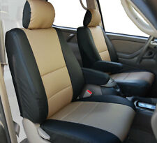 TOYOTA TUNDRA 2000-2003 BLACK/BEIGE S.LEATHER 2 FRONT SEAT & 2 ARMREST COVERS