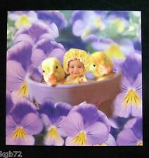 Leanin Tree Easter Greeting Card Babies Duckling Flowers Multi Color E21