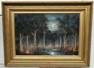 """STUNNING JOHN DOLLERY """"Gold-Diggers"""" large 50 x 75cm oil in exquisite frame"""