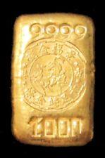 ca. 1950's KING FOOK GOLD TAEL 1.2oz 999.9 SHEUNG WAN CHINA BULLION BAR