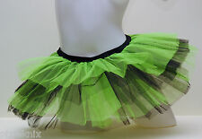 Two Coloured Tutu Green & Black cyber rave hen party 80's fancy dress