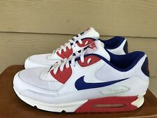 Nike Air Max 90 Essential 537384-146 Men's Sneakers Shoes White Blue Red Size 13
