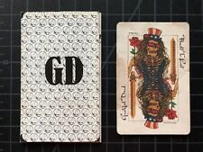The Grateful Dead Jerry Garcia BUILT TO LAST playing card + GD order form 1989