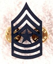 Enlisted Rank Pin:   Army Sergeant Major, subdued (single)