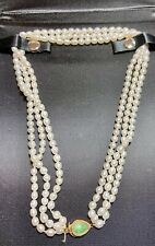 14k Gold Jade And Pearl Necklace