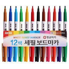 Java Extra Fine Pen 24mm Nip White Board Marker Antibacterial Pen 12 Colors