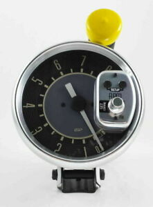 """VW BUG BUS GHIA TYPE 3 ISP 8,000 RPM MONSTER 5"""" TACHOMETER BEIGE NUMERICAL FACE"""