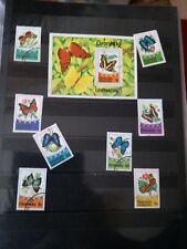 P599. Lot timbres oblitérés et neufs divers pays. Thème PAPILLONS