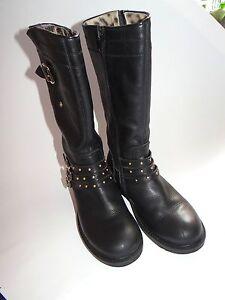 ROBERTO CAVALLI Super schicke schwarze Leder Stiefel mit Lammfell Gr.32