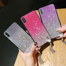 Luxury 3D Bling Strass Glitte Protective Silicone Soft + PC Back Case Cover