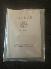 Jaguar E Type XKE Series I 3.8L 1961-64 Owners Manual Service Handbook NEW