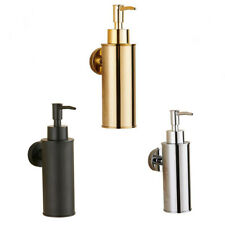 Stainless Steel Round Bathroom Lavatory Soap Lotion Dispenser Pump Wall Mount