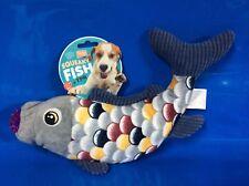 Karlie Flamingo Squaeky Fish Dog Puppy Dog Toy