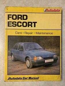 Ford Escort Mk3/4 Autodata Car Repair Manual 1980-89
