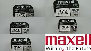 MAXELL Silver Oxide Watch Batteries, Zero Mercury, Various sizes,Fresh stock