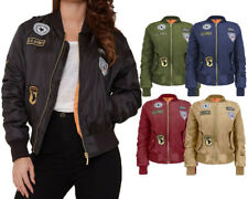 MA1 Ladies US ARMY Comando Patch Women MA1 Bomber Biker Jacket Coat XS to XL New