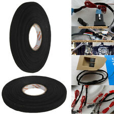 25mx9mmx0.3mm Black Adhesive Cloth Fabric Tape Cable Looms Wiring Harness 1x