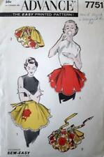 Vintage Advance 7751 Vintage SEW EASY One-Yard Apron Pattern with Rose Applique