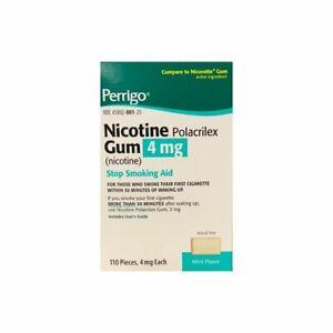 Perrigo Nicotine Polacrilex Gum 4mg Mint 110 Pieces ( EXP. 2022) FAST FREE SHIP