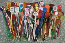 Lot of 200 diff. SWIZZLE STICK STIRRERS from worldwide hotal, bar, restaurant...